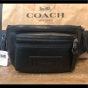 NWT Authentic Coach Leather Terrain Belt Bag